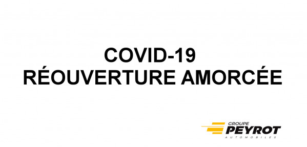 INFORMATION - COVID19 - Concession RENAULT Lézignan